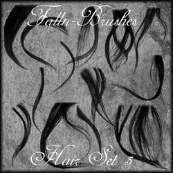 Hair Brushes Set 5 by Falln-Brushes