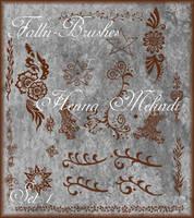 Henna Mehndi Brushes Set 1 by Falln-Brushes