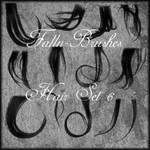 Hair Brushes Set 6 by Falln-Brushes