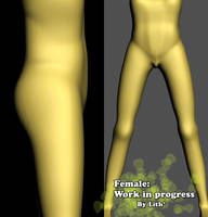Female 3D model - wip by Lith-1989