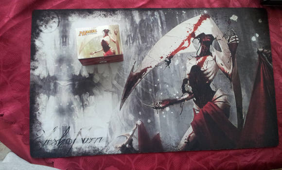 Elesh Norn - Bloody Cenobite Custom Playmat by Lith-1989
