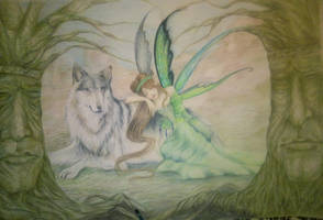 wolf and fairy by mappeli