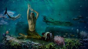 La sirena y el cofre by Mvicen
