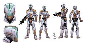 Trinity Troops modelsheet colored by Kaemgen