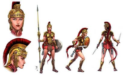 Gladiatrix model sheet, colors by Blewh by Kaemgen