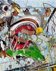Shark Attack II starring Dr. Happyface... by Kaemgen