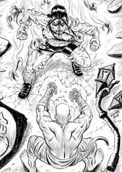 Hero Corpse vs Monolith by Kaemgen