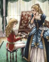 Oscar and Marie-Antoinette by angelajordan