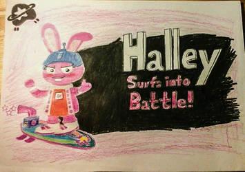 Halley Surfs into Battle! by BryanVelasquez87