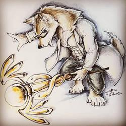Medical Wolf - Gabe by CrazyDragon2000