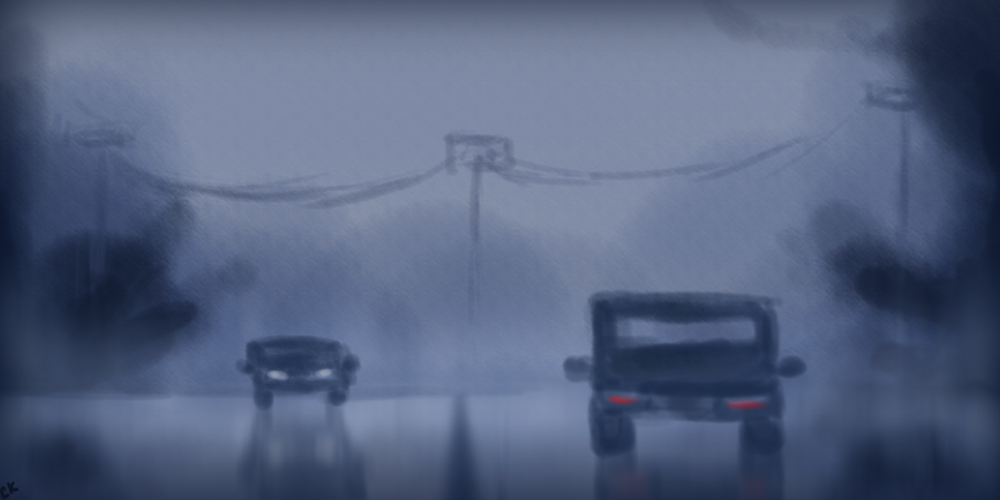 Driving in the Rain by DrGengar