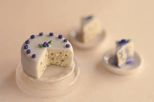 Miniature Blueberry Cake by MyPetiteCakes