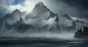 Mountain of the Old gods by jonathanguzi