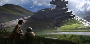 Rey and BB-8 by jonathanguzi