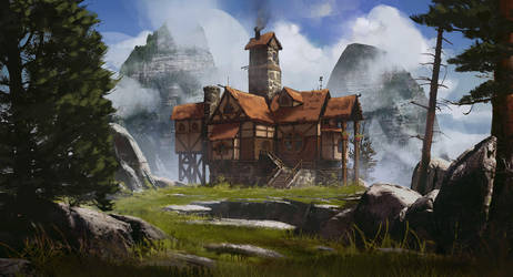 Hilltop Cottage by jonathanguzi