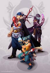 COMMISSION: Yugo, Grany, Remi by YonYonYon