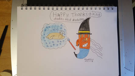Thanksgiving Carrot Dude by SophieSharkley