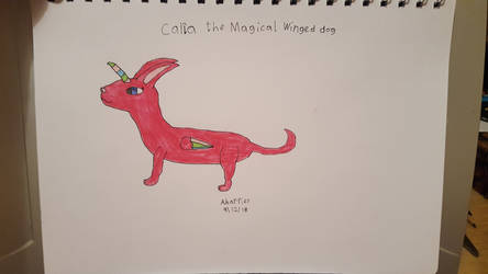 Carla the Magical Winged dog by SophieSharkley