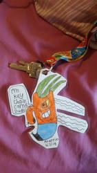 Carrot Dude keychain by SophieSharkley