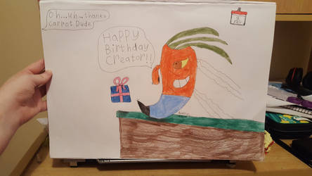 Happy Birthday Creator from Carrot Dude! by SophieSharkley