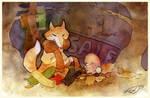 The fox sells scarfs by gailit