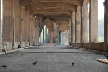Under the Downtown Bridge 2 by krissybdesignsstock