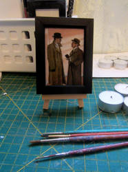 Hastings and Poirot - mini canvas by auggie101