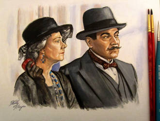 Poirot and Mrs. Oliver by auggie101