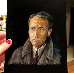 Captain Hastings - oil pastel by auggie101