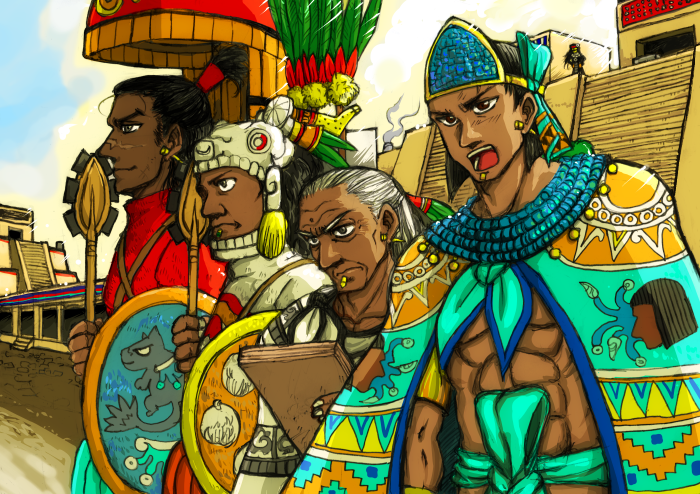 Tlatoani and generals by nosuku-k