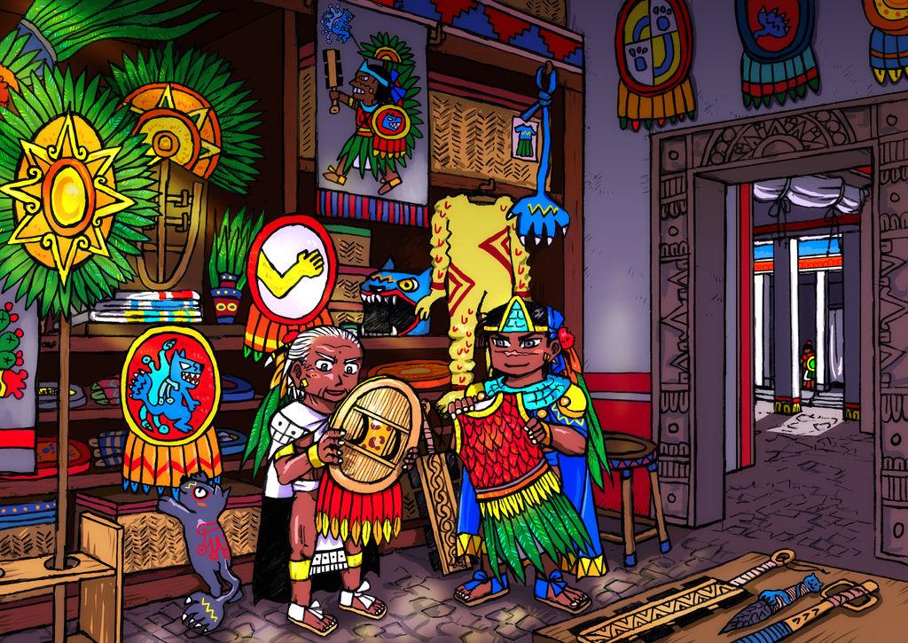 Tlatoani's wardrobe for war by nosuku-k
