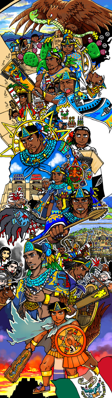 Rulers of Mexico-Tenochtitlan by nosuku-k