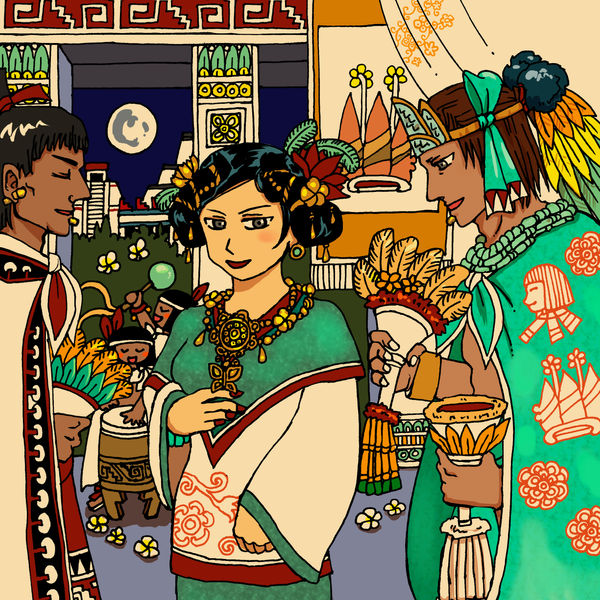 Tlatoani Nezahualpilli, the night in Texcoco by nosuku-k