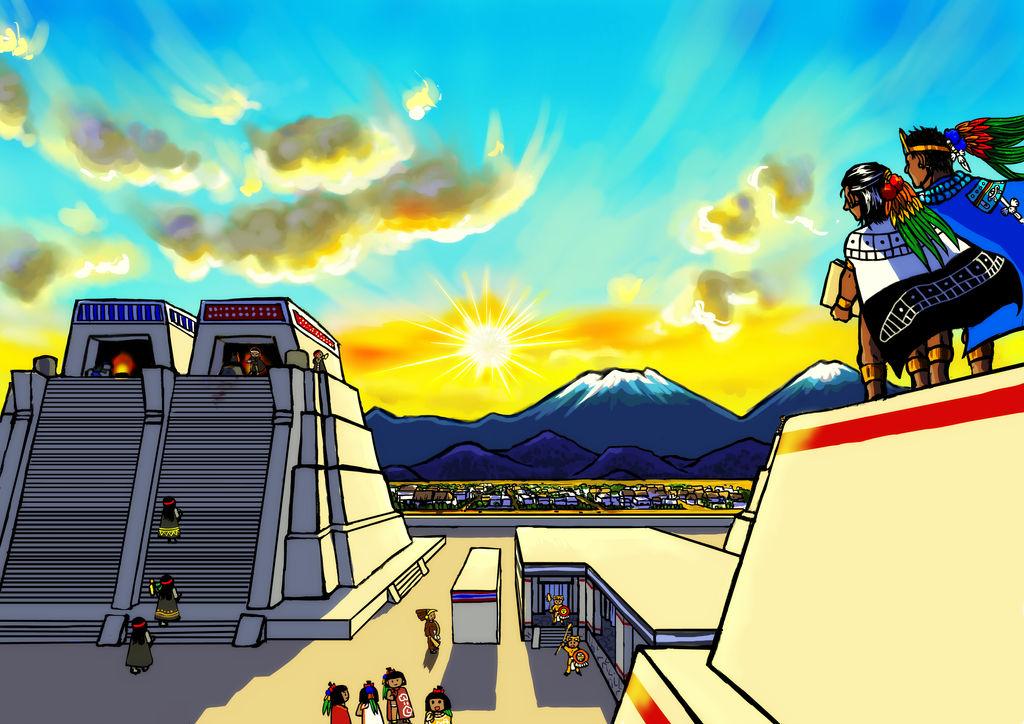 Sunrise in Tenochtitlan by nosuku-k