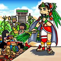 Ce Acatl Topiltzin Quetzalcoatl in Tollan by nosuku-k