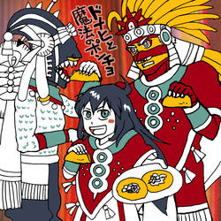 FAN ART Donaji and the Magical Poncho by nosuku-k
