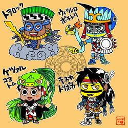 Aztec gods 20171016 by nosuku-k