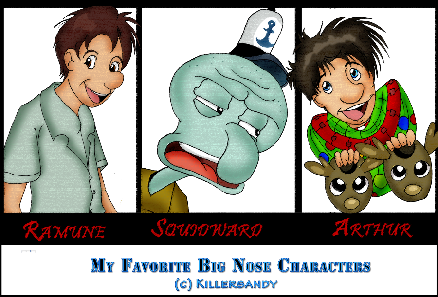 my favorite big nose characters by killersandy on deviantart