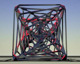 Wire Tornado-Faced Cube by ReptillianSP2011