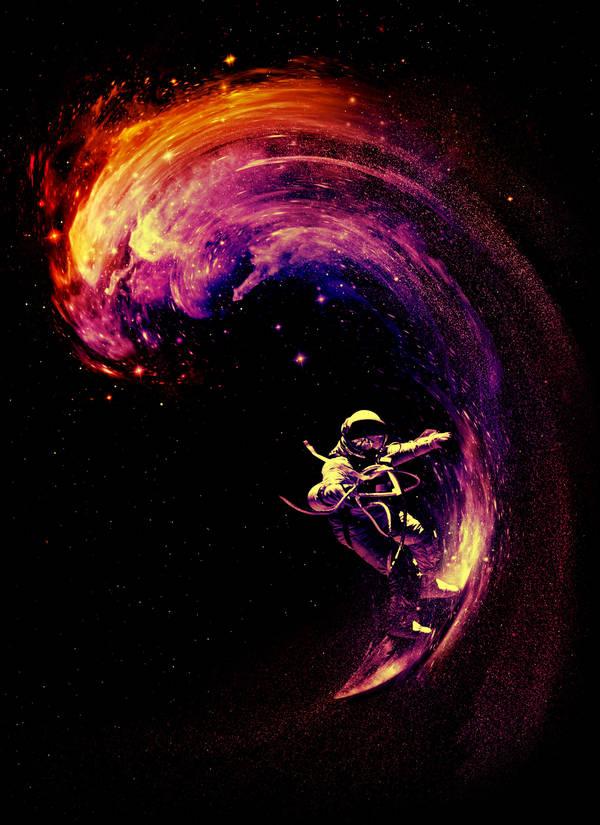Space Surfing by NicebleedArt