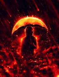 Cosmic Rain by NicebleedArt