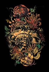 Flora Skull 2 by NicebleedArt