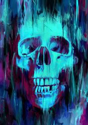 Skull Paint by NicebleedArt