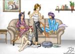 Catgirls' Night In by CitizenOfZozo-art
