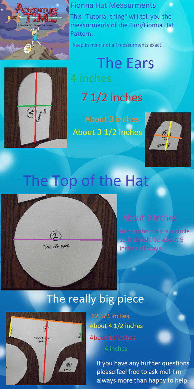 Fionna Hat Measurement Tutorial by MishaCosplay