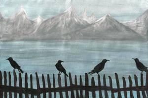 Mountain scenery by droemsjael