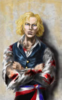Enjolras: 'Shoot me.' by ColonelDespard