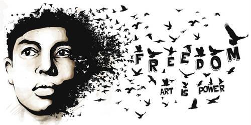 freedom. art is power. by budakseks