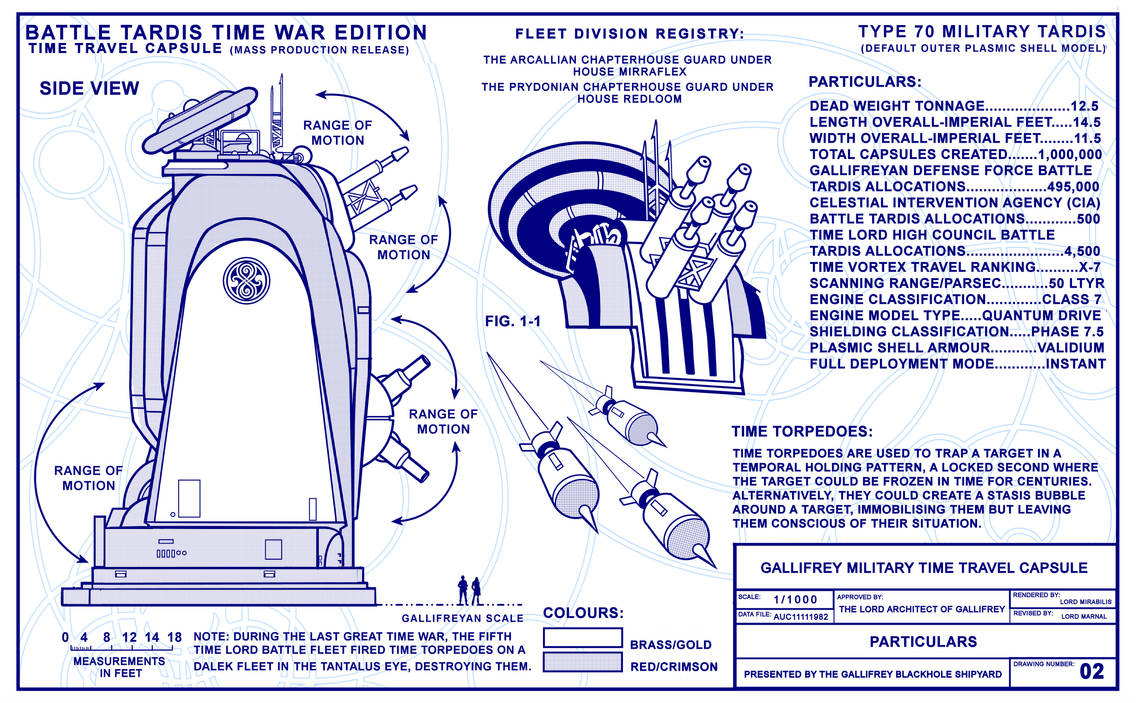 Battle Tardis Time War Edition Sheet 2 0f 12  by Time-Lord-Rassilon