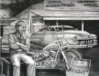 Grumpys Garage by TodoArtist